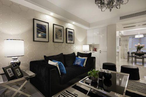 休闲淡雅混搭黑色客厅设计装潢