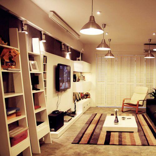 2016米色质朴创意混搭风格客厅效果图设计