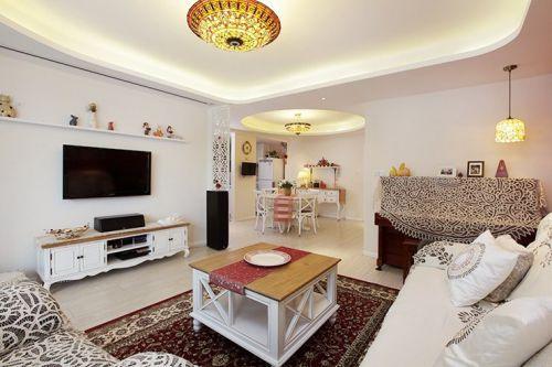 休闲混搭白色客厅效果图设计