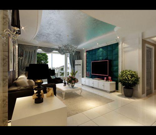 灰色质感混搭风格客厅装修图片