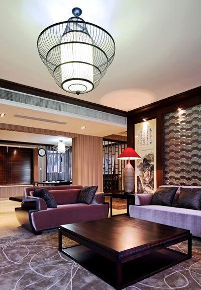 黑色质感混搭风格客厅装修设计