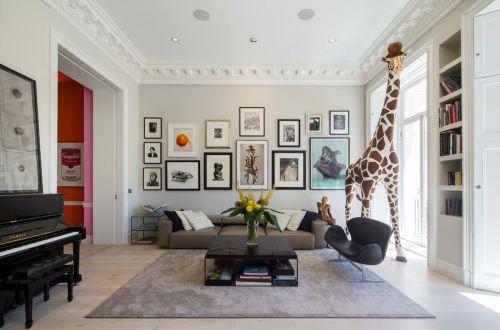 创意可爱动物风混搭风格客厅照片墙美图