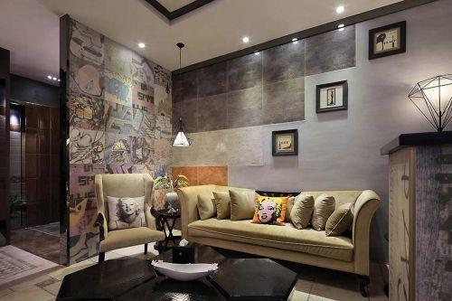 自然创意混搭风格客厅装饰