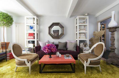 轻盈自然文艺混搭风格客厅设计欣赏