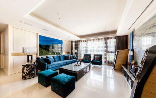 白色素雅混搭风格客厅装修案例