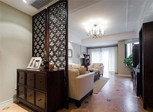 优雅休闲混搭客厅隔断装饰设计图片