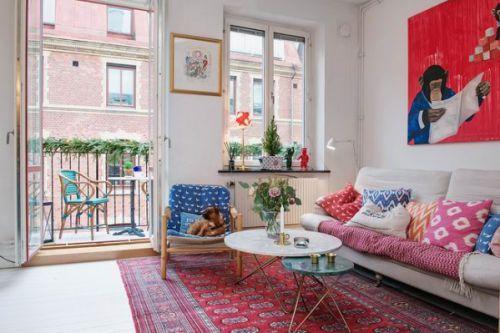 摩登复古混搭风格客厅装饰