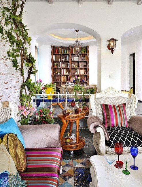 彩色个性混搭风格客厅装饰案例