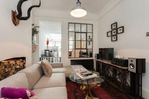 白色清新自然简约混搭风格客厅图片