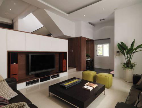 混搭现代客厅装修设计图片