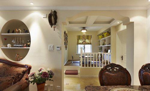 米色混搭客厅局部装修效果图片