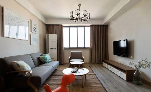现代简约宜家风原木客厅设计