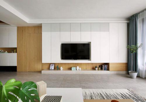 极简宜家客厅背景墙欣赏