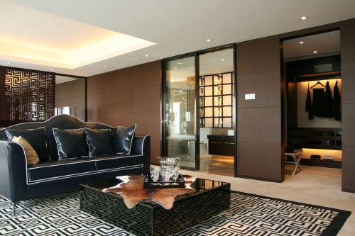 黑色古典简欧风格客厅装潢效果图欣赏