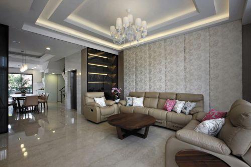 明亮舒适简欧风格客厅设计图
