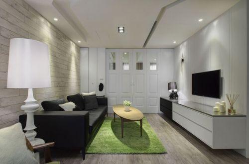 白色简欧风格客厅装修设计图片