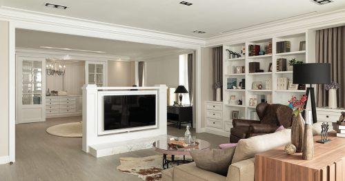 白色简欧客厅装饰案例