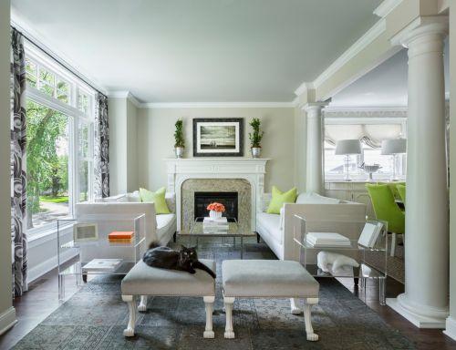简欧风格白色客厅沙发效果图欣赏