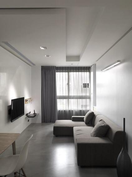宜家风格灰色雅致客厅装潢