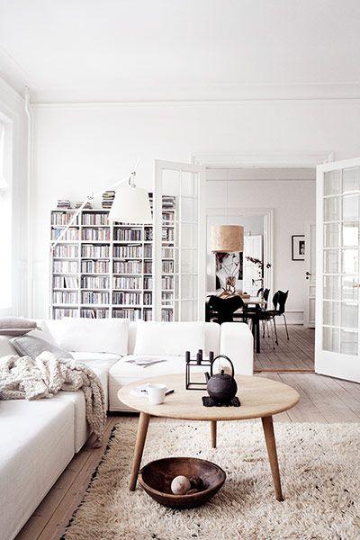 白色文艺宜家风格客厅效果图设计
