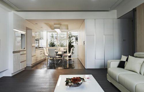 2016素雅时尚宜家风格白色客厅装潢设计图片