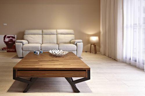 舒适自然宜家米色风格客厅装潢装修案例