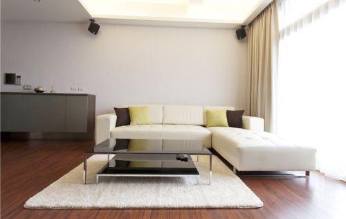 舒适自然简约宜家风格白色客厅装修案例