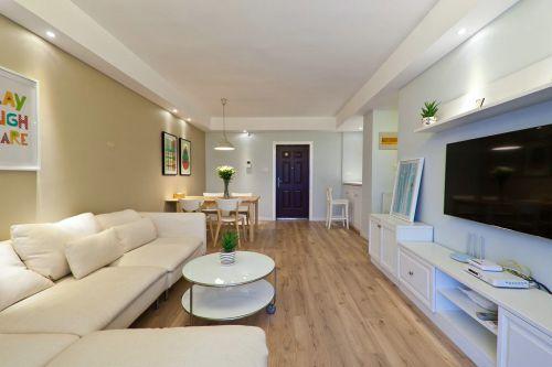 白色宜家风格客厅图片欣赏