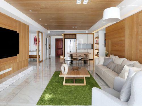 原木色宜家风格客厅装修效果图