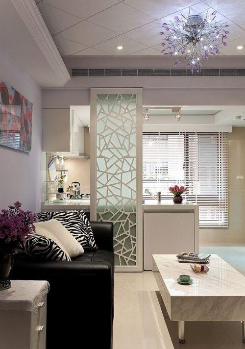 米色宜家风格客厅装潢案例