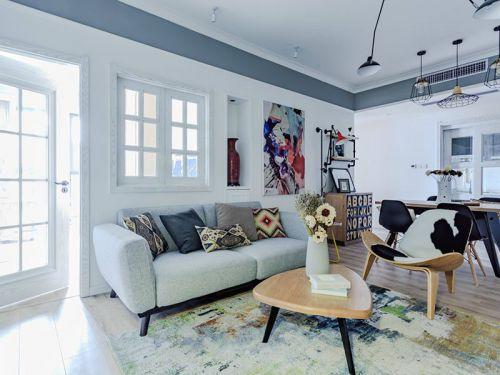 清新白色宜家风格客厅美图欣赏
