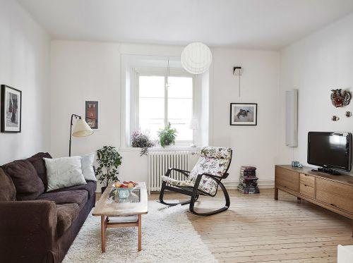 白色文艺宜家风格客厅装饰图