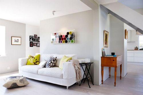 白色宜家风格客厅沙发装修图片