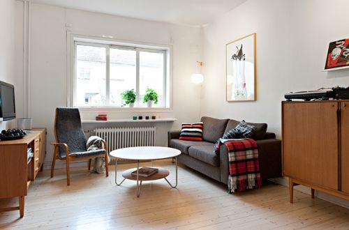 白色简单宜家风客厅设计赏析