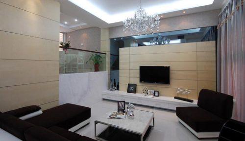 黑白经典时尚简欧风格客厅装修美图
