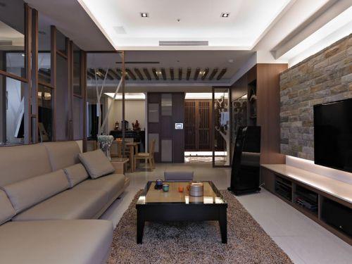 米色雅致宜家风格客厅装修布置