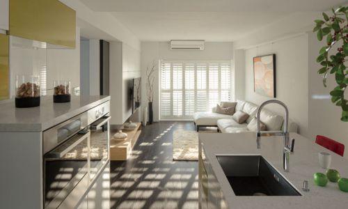 白色清新宜家风格客厅装修布置