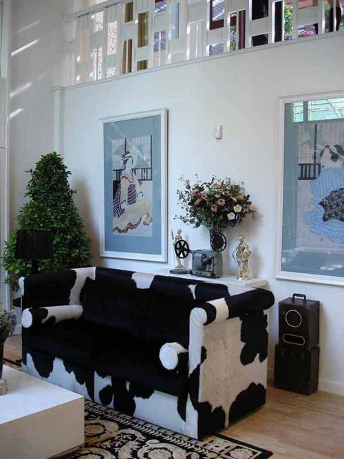 简欧设计清新个性客厅装潢效果图