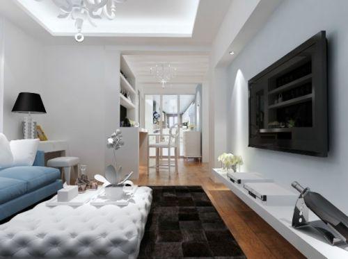 灰色简欧温馨风格客厅装饰设计图片