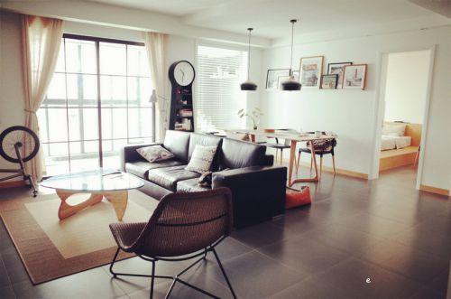 宜家风格素雅白色客厅装修设计