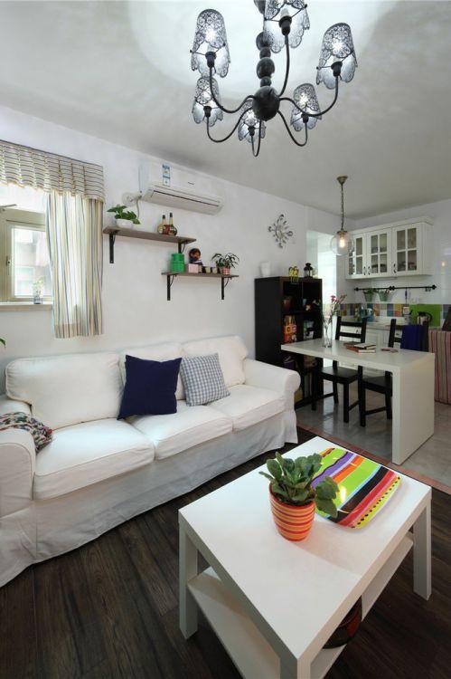 白色清新宜家风格客厅装修效果图