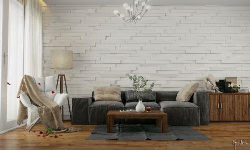 灰色质感宜家风格客厅装修设计
