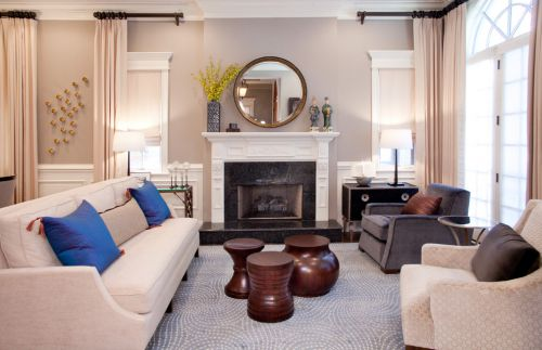 2016米色素雅宜家风格客厅装修美图