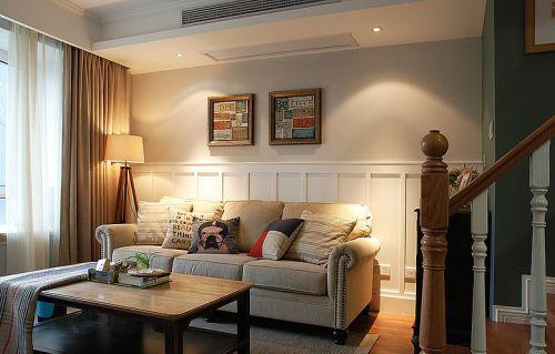 宜家风格清新米色客厅装修设计2016