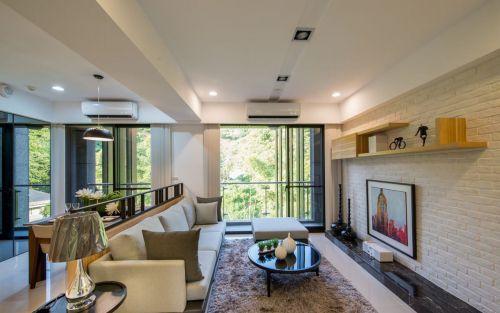 白色清新宜家风格客厅装潢设计图