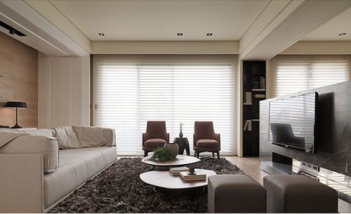 宜家风格米色客厅装修效果展示