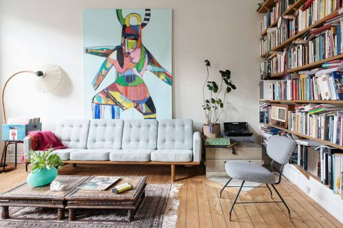 2016宜家风格清新白色客厅设计装潢