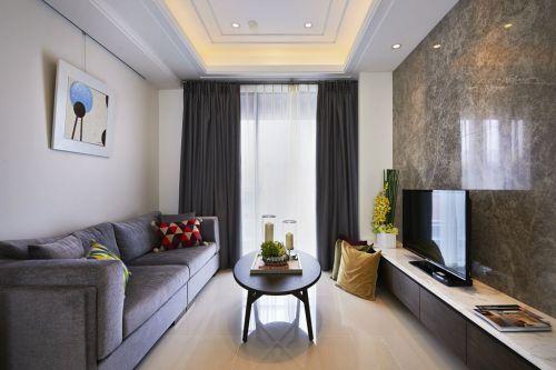 2016淡雅宜家风格白色客厅装潢效果图