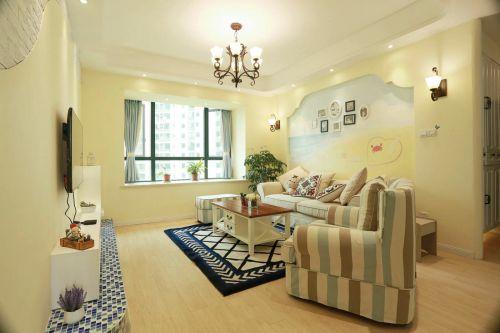 黄色素雅宜家风客厅装饰设计图片