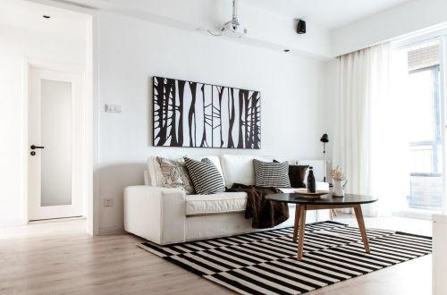 白色简洁宜家风客厅设计案例